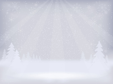 Abstract winter landscape background  Winter background  Vector Vector
