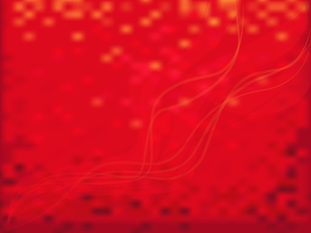 Red sparkles background  Abstract red blurred background with wavy semitransparent lines  Vector Vector