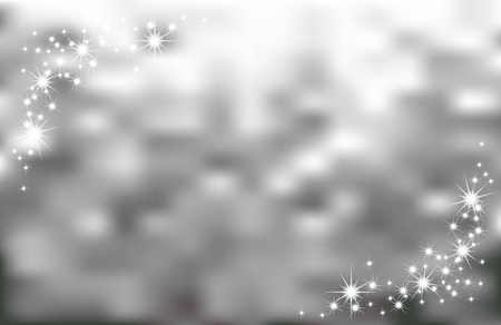 Abstract silver sparks background  Holiday silvery background  Vector Vector