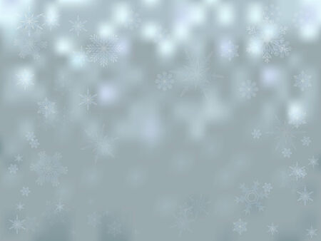 Abstract winter background  Silver background with snowflakes  Vector Vector