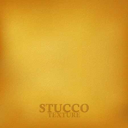 stucco: Ochre stucco texture. Plaster wall texture. Vector background Illustration