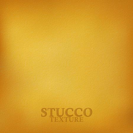 mur platre: Ocre texture de stuc. Pl�tre texture du mur. Vecteur de fond Illustration