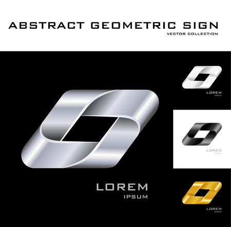 Geometrical sign design template   Vector
