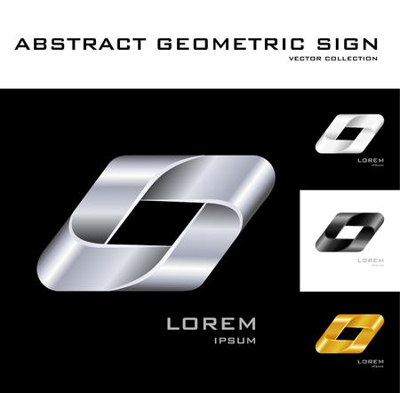 Geometrical sign design template   Vector