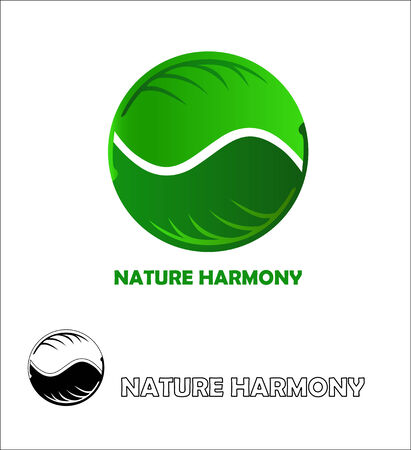 harmony nature: Nature harmony icon design template.