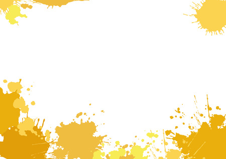 yellow orange: Background with yellow blotches. White horizontal background with stains and place for your text. Vector illustration.