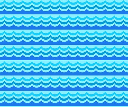 tide: Wave seamless pattern. Sea seamless pattern with stylizing waves. Vector illustration