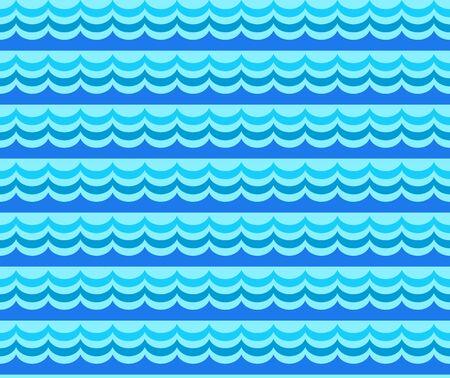 Wave seamless pattern. Sea seamless pattern with stylizing waves. Vector illustration