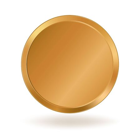 Realistic empty golden coin