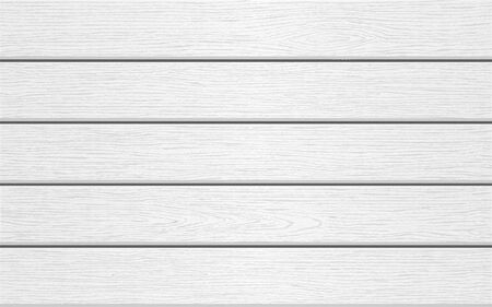 Horizontal white wooden background. Wood texture. Vector illustration