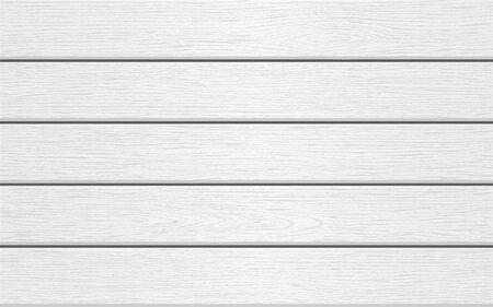 Fondo de madera blanco horizontal. Textura de madera. Ilustración vectorial