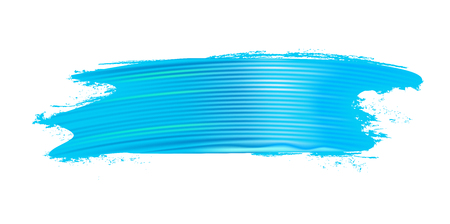 Horizontal realistic light blue brush stroke. Paint texture. Design element. Vector illustration.
