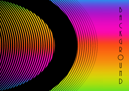 Horizontal abstract background with rainbow gradient. Vector illustration. 向量圖像