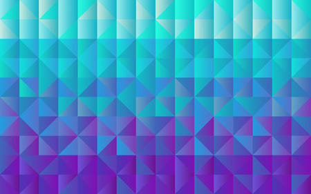 Horizontal background grid of triangles with gradient from light blue to deep purple. Trendy design template. Vector illustration 向量圖像