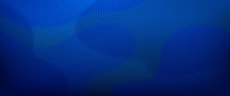 Blue horizontal gradient background with blurred fluid effect. Vector illustration