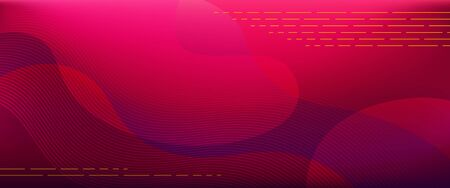Red-purple horizontal gradient background with blurred fluid effect. Vector illustration