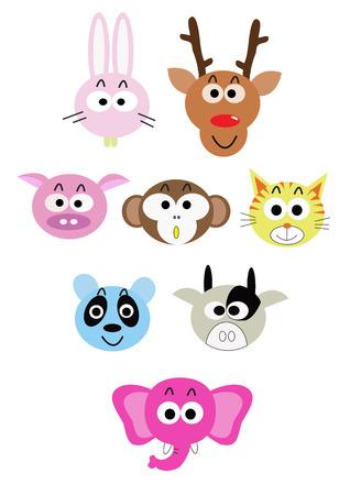 cabe�a de animal: desenhos animados �cone animal cabe�a