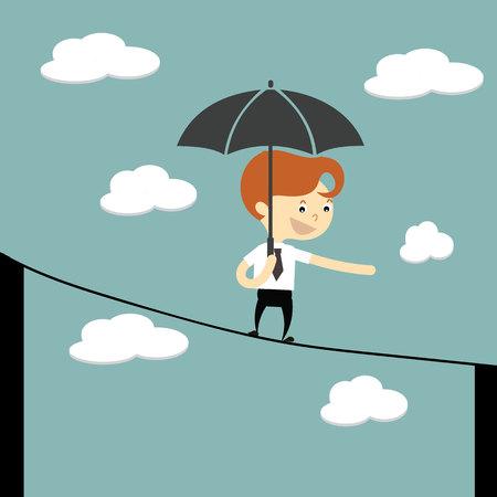 El hombre de negocios a través de otro paraguas línea de edificación compra celebración Foto de archivo - 37825057