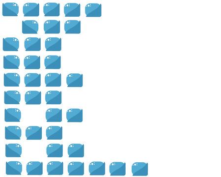 raum weiss: blauen Ziegeln Hintergrund mit wei�er Raum Vektor