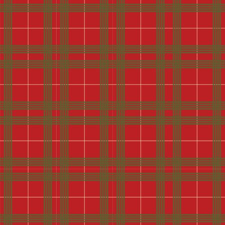 red plaid: red and green christmas plaid pattern vector