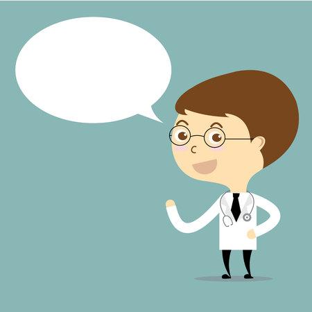 doctor with speech bubble cartoon vector Vector