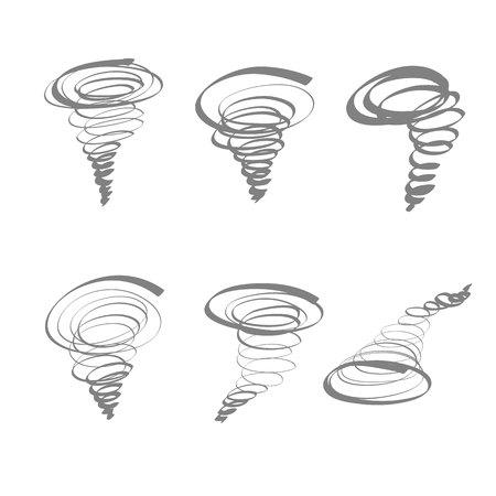 typhoon: typhoon hand drawn icon set vector isolated.
