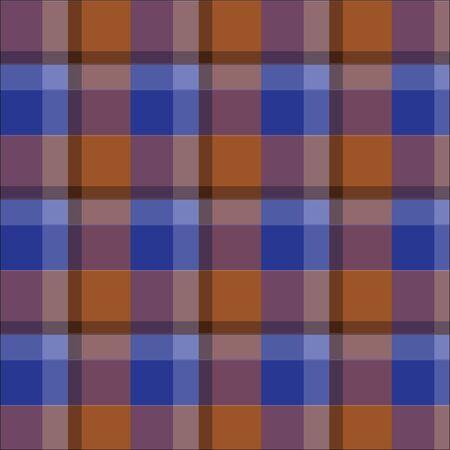 파란 격자 무늬 타탄 무늬 벡터