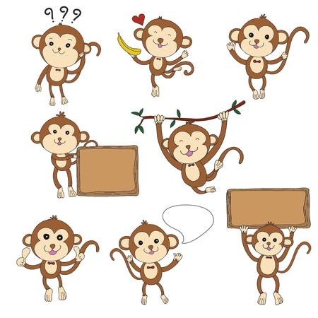 8 Affen Charakter Standard-Bild - 54920045