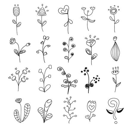 20 Blumen-Set Standard-Bild - 54920047