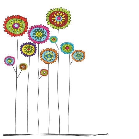 꽃 여러 가지 빛깔의 재미 있은 작풍
