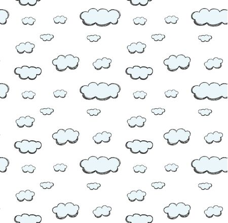 cloud hand drawn cute pastel seamless pattern vector 일러스트