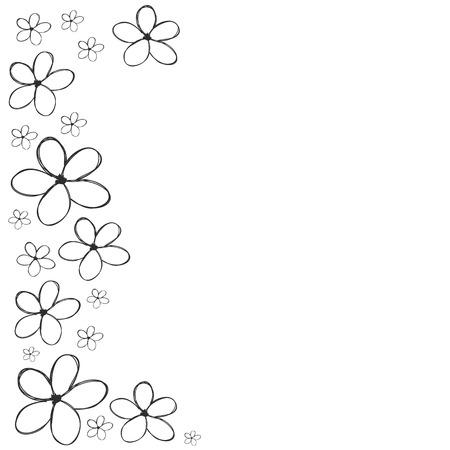Blumen Hand niedlich Hintergrund für die Karte oder Grußkarte Vektor gezeichnet Standard-Bild - 67751051