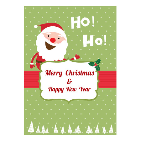 Greeting card: Merry Christmas Creative Hand Drawn card For Christmas Vector illustration.