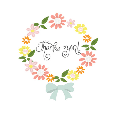 Flowers hand drawn cute background for card or greeting card vector