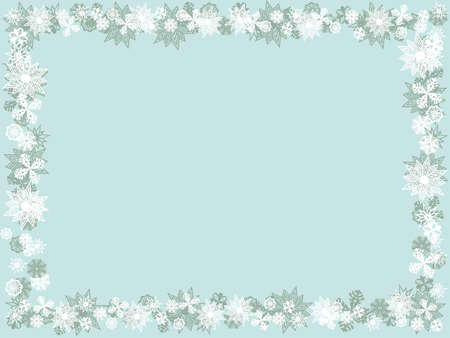 flake: Blue background with snowflakes. Christmas card. Winter background Illustration