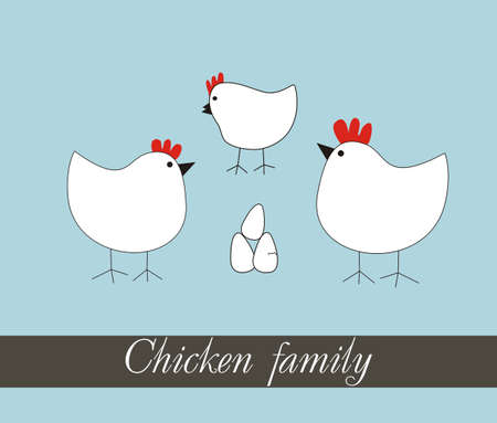 chicken family: Chicken family Funny cartoon set vector. Easter greeting card. Chicken vector. Chicken family vector. Funny chicken vector.