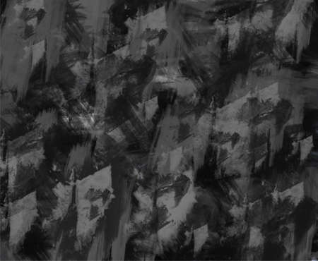 tempera: Texture of an old black-and-white plastered walls. Rough gray grunge background. Dark tempera. Stock Photo