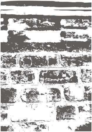 grunge vector: Grunge vector Texture brick wall. Vintage decorative. Object to Create Distressed Effect. Abstract background with scuffs, scratches, smeared and paint.