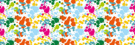 dab: Colored blots on the white background seamless pattern Blue Spot Green Stain Pink Smudge Orange Blot Yellow Smear Dab and blotch seamless wallpaper Blur Illustration
