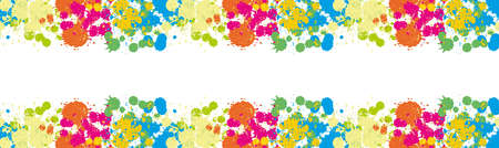 dab: Blue Spot Green Stain Pink Smudge Orange Blot Yellow Smear Dab and blotch seamless wallpaper Blur Border Colored blots on the white background