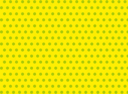 symmetrical: Green dots on a yellow background abstract pattern Pop art style Dots background Symmetrical dots background