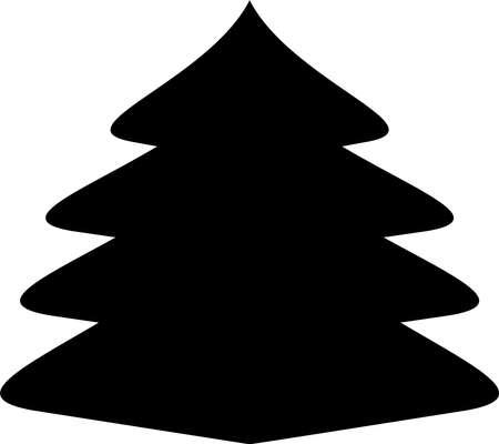 unpretentious: Christmas tree icon Christmas tree vector icon Christmas tree silhouette black and white icon