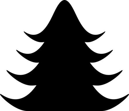 Christmas tree icon Christmas tree vector icon Christmas tree silhouette black and white icon