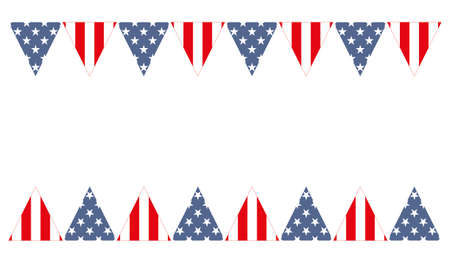 USA Patriotic design with the stars and stripes The idea for the design on July 4, veterans Day or national holiday Flag USA Seamless pattern for 4th of July or Veterans Day Illustration