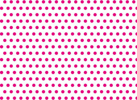 symmetrical: Pink dots on a white background abstract pattern Pop art style Dots background Symmetrical dots background Illustration