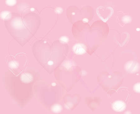 vague: Light blur backdrop. Pale pink background with hearts. The Theme of love and Valentines day. Stock Photo