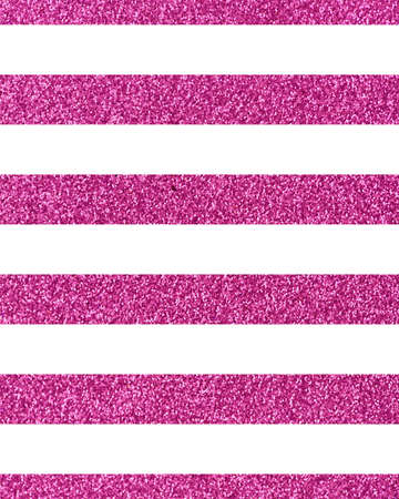 Horizontal wide pink glitteryline with the Theme of love and Valentines Day Idea for greeting card Rectangular orientation. Stripes of pink glitter texture