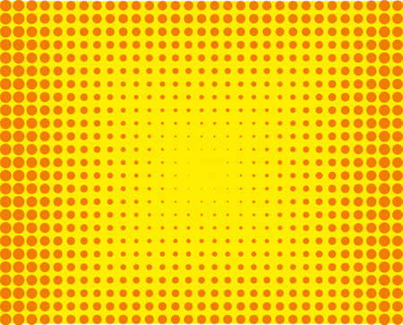 Cartoon pattern with circles, dots Halftone dotted background. Pop art style design element, border for web banners, cards, wallpapers Vector illustration