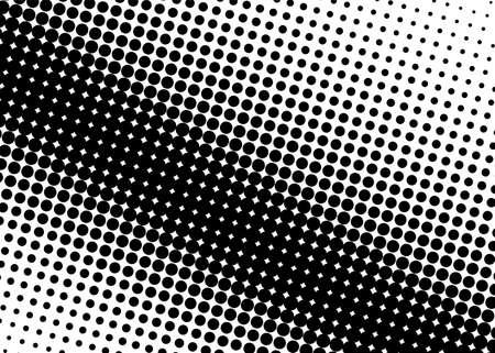 하프 톤 패턴입니다. 만화 배경입니다. 원, 점이있는 점선 된 복고풍 배경. 웹 배너, 포스터, 카드, 월페이퍼, 사이트 디자인 요소입니다. 팝 아트 스타 일러스트