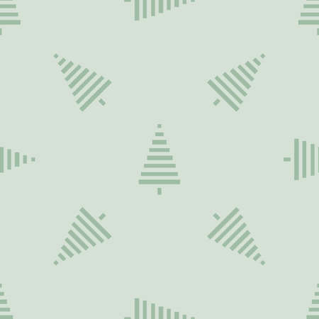 christmas tree illustration: Christmas pattern with trees. Simple, winter background graphic to print on fabric, paper, gift wrapping, packaging, scrap-booking, covers, backdrops, Wallpapers, web. Seamless vector illustration Illustration